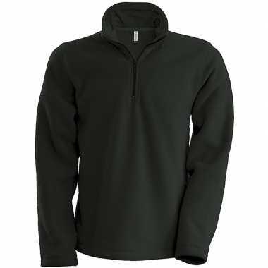 Donkergrijze micro polar fleece vest voor heren