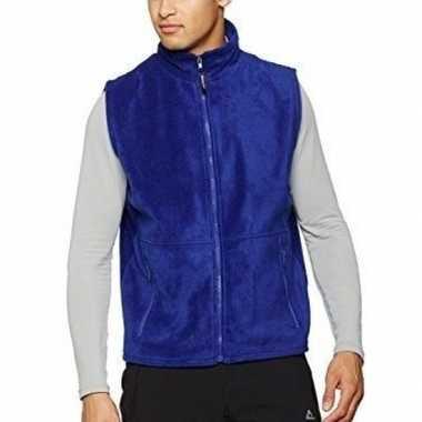 Fleece bodywarmer kobalt blauw voor volwassenen