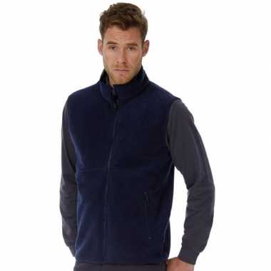 Fleece outdoor bodywarmer donkerblauw voor heren