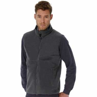 Fleece outdoor bodywarmer grijs voor heren