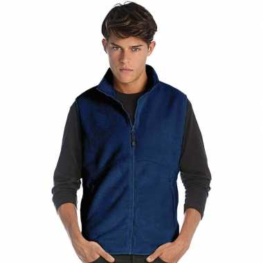 Fleece outdoor bodywarmer navy blauw voor heren