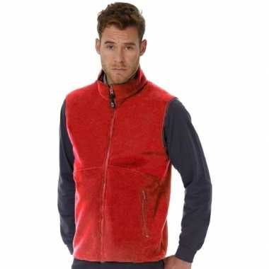 Fleece outdoor bodywarmer rood voor heren