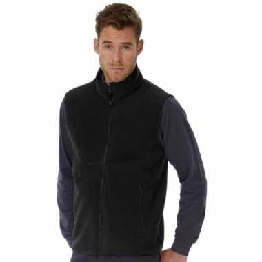 Fleece outdoor bodywarmer zwart voor heren
