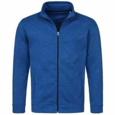 Fleece outdoor vest premium blauw voor heren