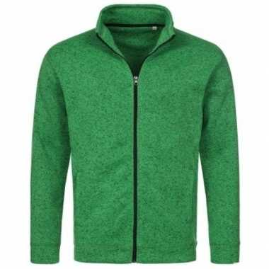 Fleece outdoor vest premium groen voor heren