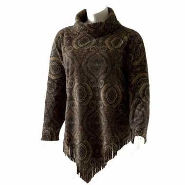 Fleece ponchovest print