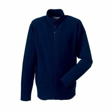 Fleece vest navy voor heren