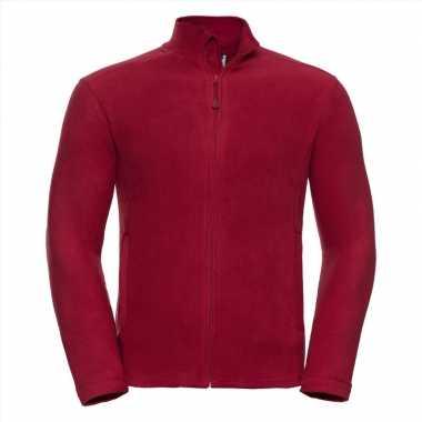 Fleece vest rood voor heren