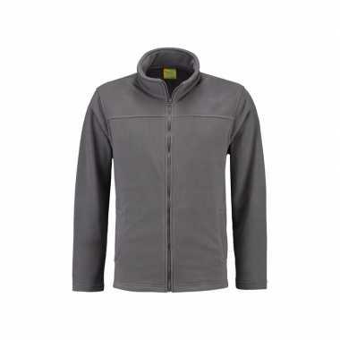 Grijs fleece vest met rits voor volwassenen