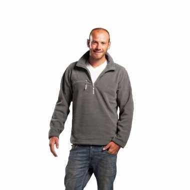 Grijze fleece vest voor volwassenen