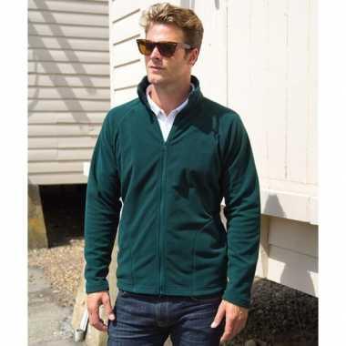 Groen fleece vest Viggo voor heren