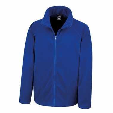 Kobalt blauw fleece vest Viggo voor heren