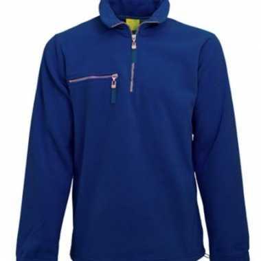 Kobalt fleece vest voor volwassenen