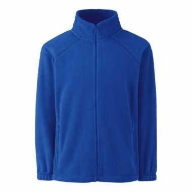 Kobaltblauw fleece vest voor jongens