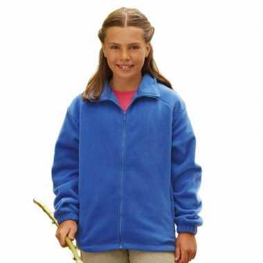 Kobaltblauw fleece vest voor meisjes
