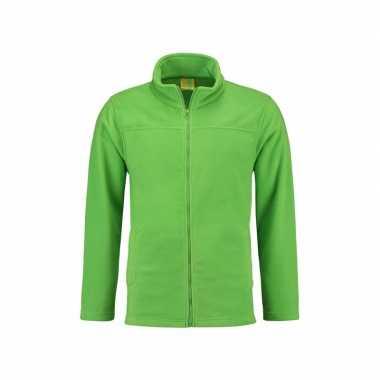 Lime fleece vest met rits voor volwassenen