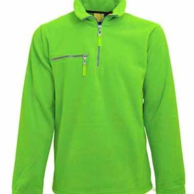 Lime fleece vest voor volwassenen