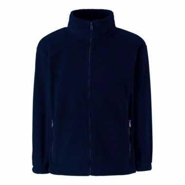 Navy blauw fleece vest voor meisjes