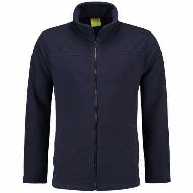 Navy fleece vest met rits voor volwassenen