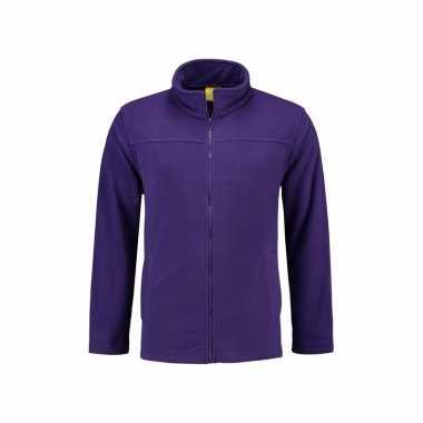 Paars fleece vest met rits voor dames