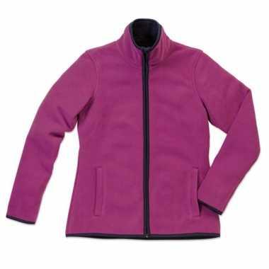 Paars fleece vest voor dames