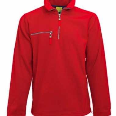 Rode fleece vest voor volwassenen