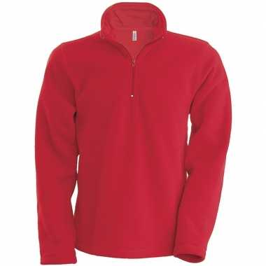 Rode micro polar fleece vest voor heren
