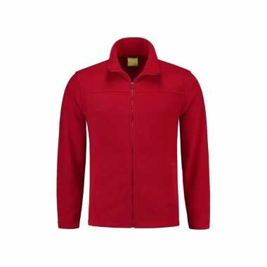 Rood fleece vest met rits voor volwassenen