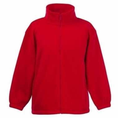 Rood fleece vest voor meisjes