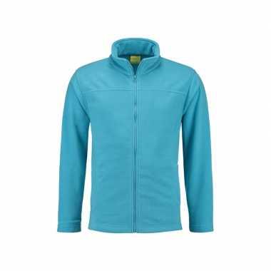 Turquoise fleece vest met rits voor volwassenen