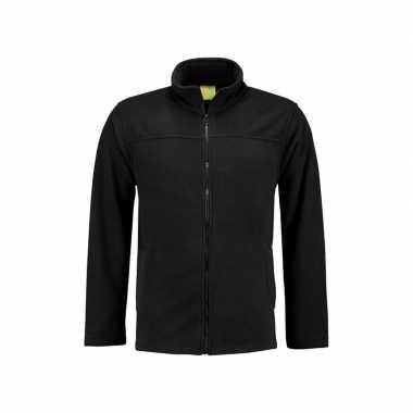 Zwart fleece vest met rits voor volwassenen
