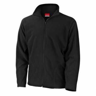 Zwart fleece vest Viggo voor heren