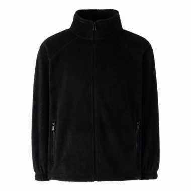 Zwart fleece vest voor meisjes