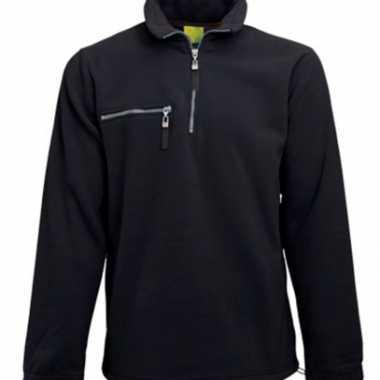 Zwarte fleece vest voor volwassenen