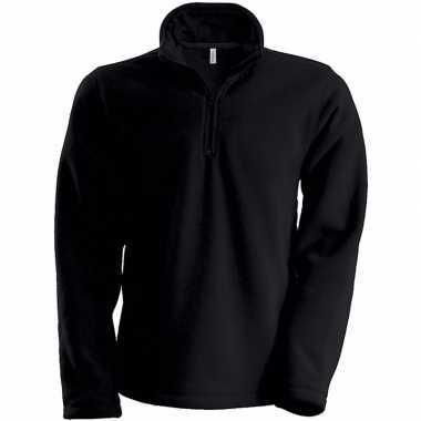 Zwarte micro polar fleece vest voor heren