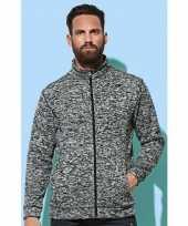 Fleece outdoor vest premium donker grijs voor heren